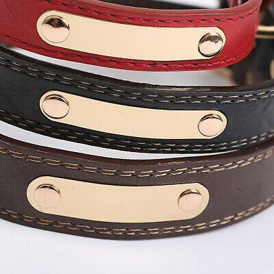 PU Personalized Dog Collars Name ID Collar with Nameplate Engraved XS-XL 10