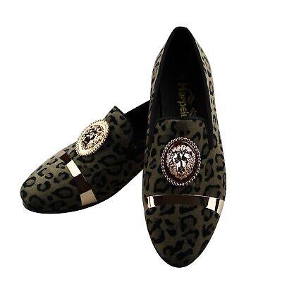 US 6.5-11 Harpelunde Velvet Loafers Slip On Wedding Men Dress Shoes With Spikes