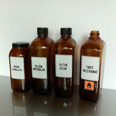 (b50) Braune Schraubgläser Apotheke Arzt Vorrat Tee 1l 1000ml Apothekerflaschen 5
