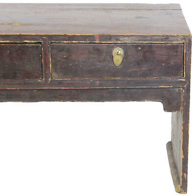 """Antique Chinese 3 Drawer Kang Coffee Table 50"""" x 20"""" Tall. Foot of Bed Bench 10"""