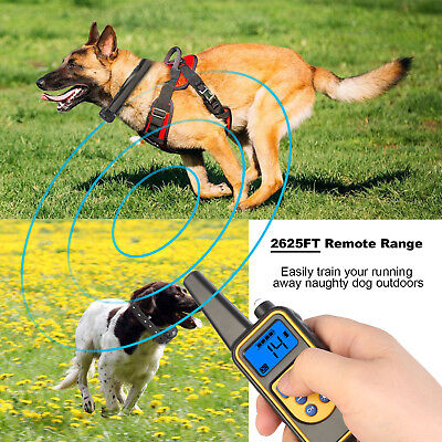 Dog Shock Collar With Remote Waterproof Electric for Large 875 Yard Pet Training 5