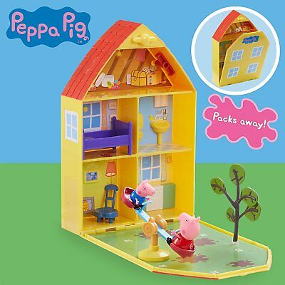 PEPPA PIG 06156 Maletín de Juego La Casa y Jardín de Peppa