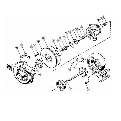Turbocharger Rebuild Kits For Kkk K26 Turbo 360 Degree Thrust