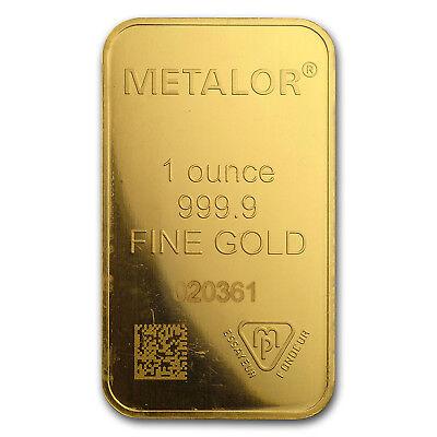 1 oz Gold Bar - Metalor (In Assay) - SKU#166446 3
