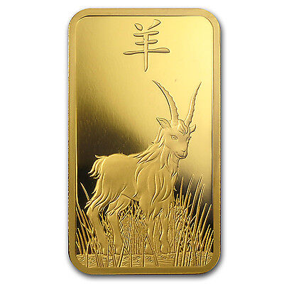 100 gram Gold Bar - PAMP Suisse Year of the Goat (In Assay) - SKU #86050 4