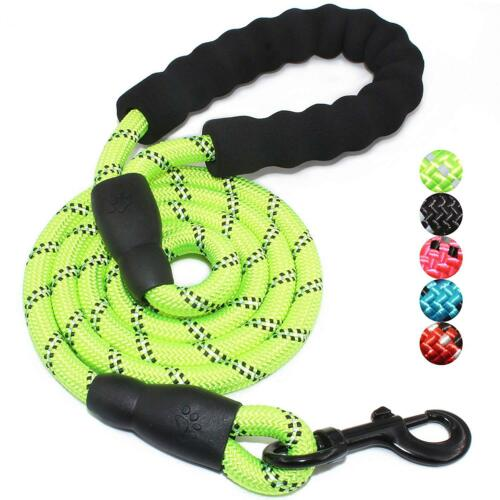 Multi-Color 5FT Strong Dog Leash Climbing Rope Reflective Thread Night Safe 3