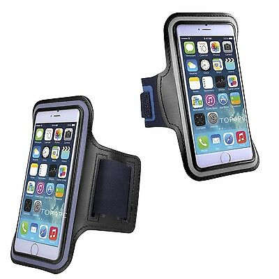 Brassard Sport Pour Iphone 8 7 6S Etui Coque Reflechissant Ecouteur Running Noir