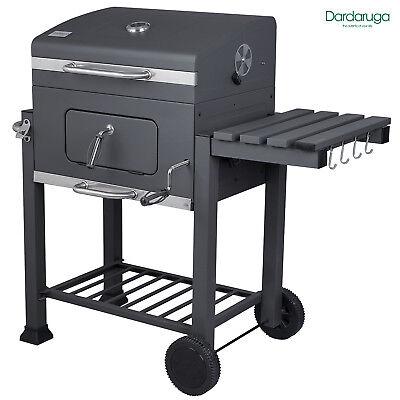 Bbq Barbecue Grill Griglia Xxl A Carbone Carbonella Con Ripiano E Affumicatore 2