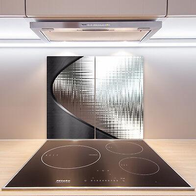 2x30x52 cm Herd-Abdeckplatte Glas Ceranfeld-Abdeckung Deko Metall Muster