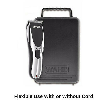 Wahl Cordless Rechargeable Hair Clipper Shaver Trimmer Grooming Clippers Set 8