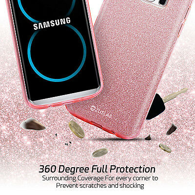 For Samsung Galaxy S9 Note 8 S8 S8 Plus Case Genuine Zuslab Rosy Sparkle Cover 7