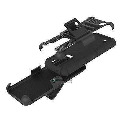 Shockproof Hybrid Armor Impact Hard Phone Case Kickstand Holster Belt Clip Cover