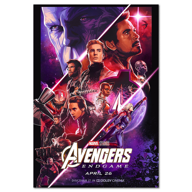 Avengers Endgame 4 Movie Poster Cinema Art Work High Quality 3D Print Wall Decor 9