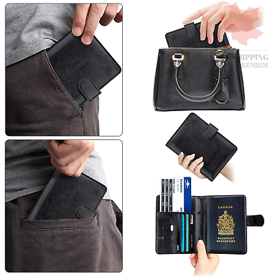 WALNEW RFID Blocking Passport Holder Travel Wallet Cover Case 7