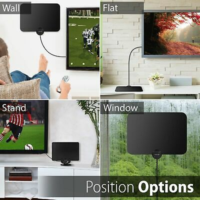 [350 Miles] Clear Indoor Digital TV HDTV Antenna [2019 Latest] UHF/VHF/1080p 4K 7
