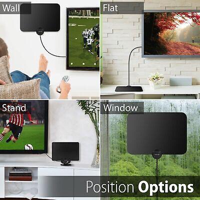 [980 Miles] Clear Indoor Digital TV HDTV Antenna [2019 Latest] UHF/VHF/1080p 4K 6