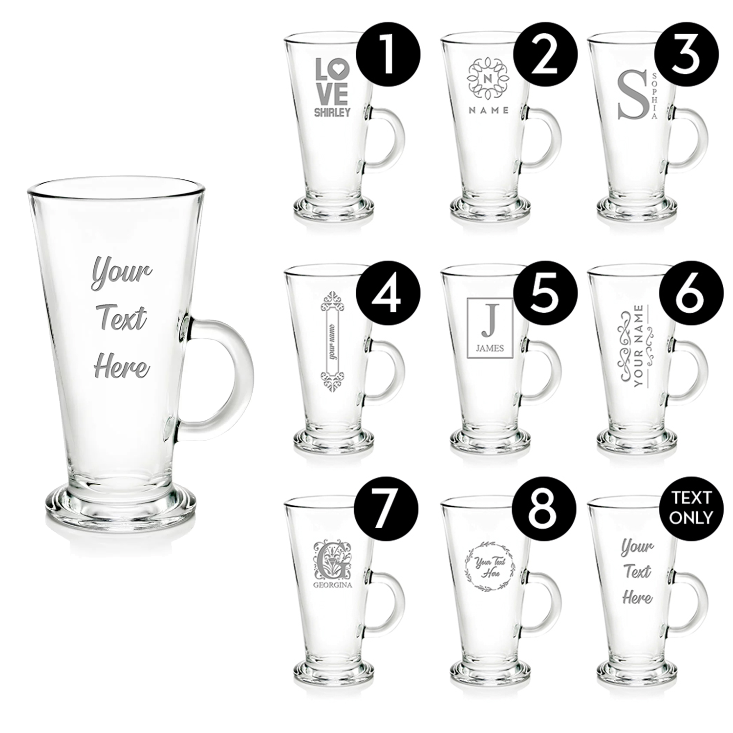 Personalised Glass Gifts Birthday Christmas Wedding Engrave Your Own Message 7