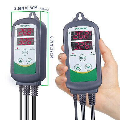 Inkbird ITC-308 WIFI Temp Controller Thermostat 2 Dual Relays 2400W AU Plug Heat 9