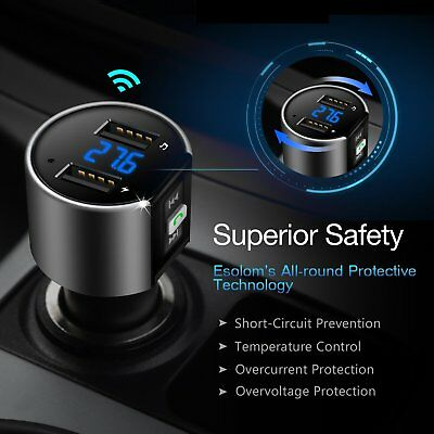 Bluetooth In-Car MP3 FM Wireless Transmitter Dual USB LCD Charger Kit Handsfree 2