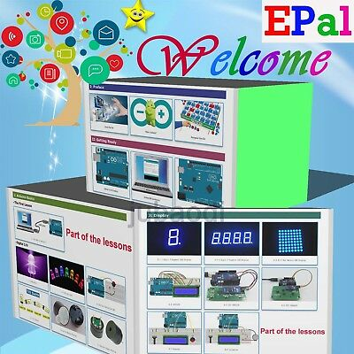EPAL Professional UNO R3 Starter Kit for Arduino LCD Compass Gyro Processing AU 2