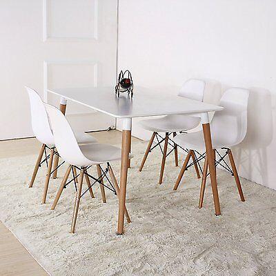 HALO TABLE SALLE à Manger Noir Blanc Rétro Design Da DS Bois Hêtre Jambes  Bureau