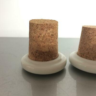 Stopfel Set Porzellan mit Kork Verschluss Flasche Flaschen (a49) 2