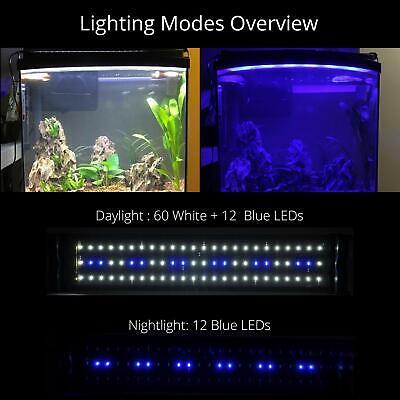 NICREW LED Aquarium Light, Fish Tank Light with Extendable Brackets, White an... 6