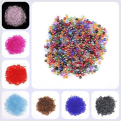 2000pcs 2mm Mini Perles Verre Multicolore Pour Bracelets Pendantifs Breloques 3