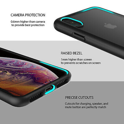 iPhone X XS Max XR Case ZUSLAB Clear Heavy Duty Shockproof Slim Cover + GLASS SP 7