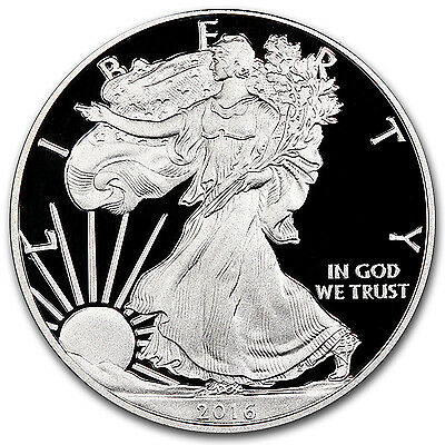 2016-W 1 oz Proof Silver American Eagle (w/Box & COA) - SKU #96157 2