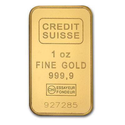 1 oz Credit Suisse Gold Bar In Assay .9999 Fine - SKU #82687 3