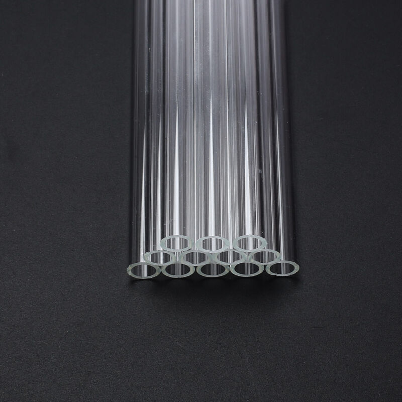 "12pcs Pyrex Glass Blowing Tubes 12"" long clear OD 8mm ID 1.2mm Thick Tubing 8"