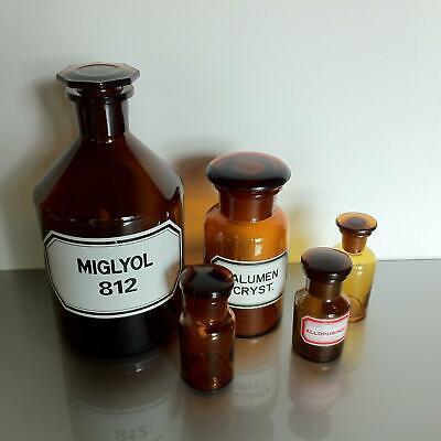 (b50) Braune Apothekerflaschen Apotheke Arzt Vorrat Tee 1000ml 250ml 50ml 2