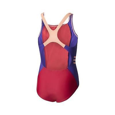 Adidas costume piscina intero bimba-ragazza infinitex BS0228 fucsia-viola-pesca 3