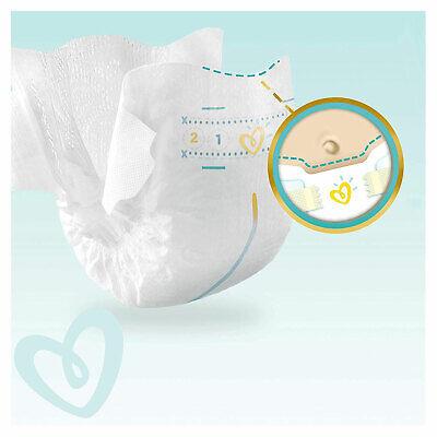 PAMPERS New Baby Taille 1 - 2 à 5Kg - 264 Couches Pour Bébé - Format Pack 1 Mois 9