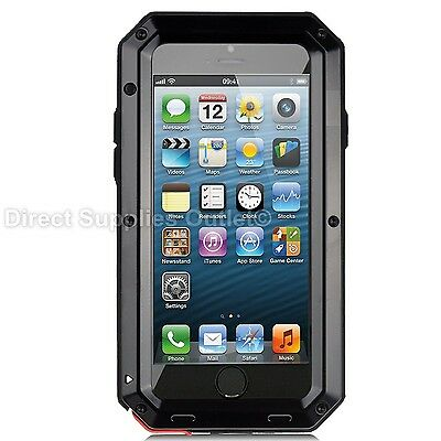 Waterproof Shockproof Metal Aluminum Gorilla Case For iPhone 6 7 8 X XR 5SE PLUS 6