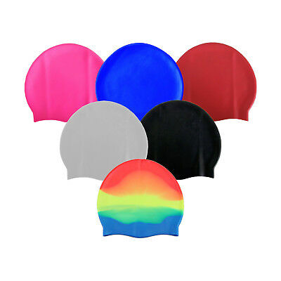Unisex Adult & Kids Swimming Hat - Waterproof Silicone Shower Swimming Pool Cap 3