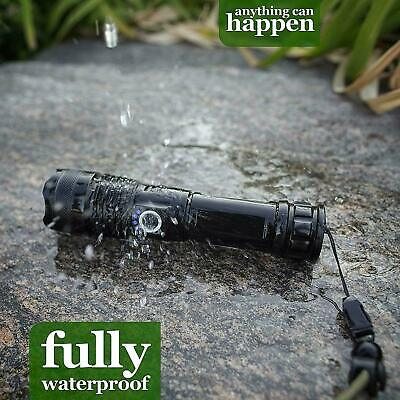 High Power 900000Lumens XHP50 Zoom Flashlight LED Rechargeable Torch Headlamp 6