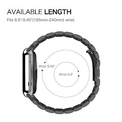 For iWatch Apple Watch Series 4 44mm 2018 Stainless Steel Band Strap Bracelet 5