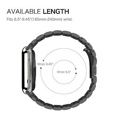 For iWatch Apple Watch Series 5/4 44mm Stainless Steel Band Strap Bracelet 5