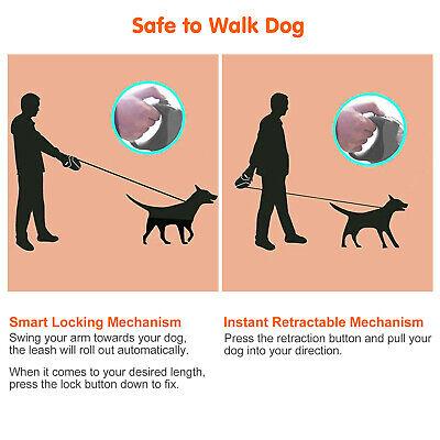 Heavy Duty Retractable Dog Leash 16ft Walking Lead for S/M Pet Dogs Waterproof 3