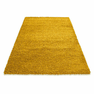 5cm HIGH PILE SMALL LARGE PREMIUM QUALITY SHAGGY RUG OCHRE YELLOW MUSTARD GOLD 4