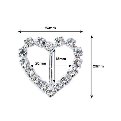 RECTANGLE OR SQUARE DIAMANTE CRYSTAL BUCKLE RIBBON SLIDERS ELEGANZA CIRCLE,OVAL