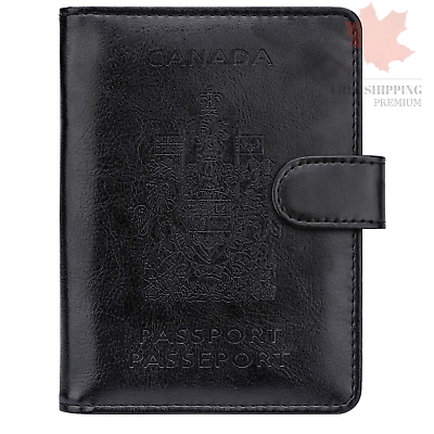 WALNEW RFID Blocking Passport Holder Travel Wallet Cover Case 2