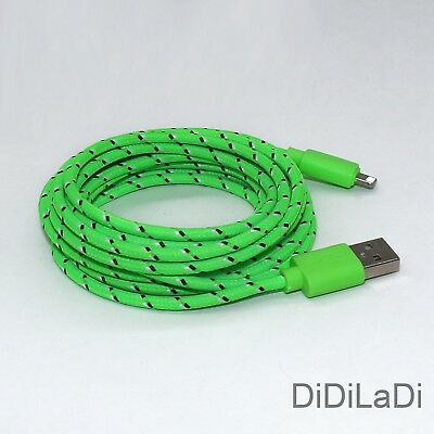 1/2/3M Braided Lightning USB Charger Data Sync Cable For iPhone 6 7 8 Plus X XR 5
