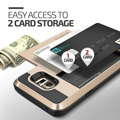 Shockproof Wallet Credit Card Holder Protective Case Cover Fits Samsung Galaxy 3