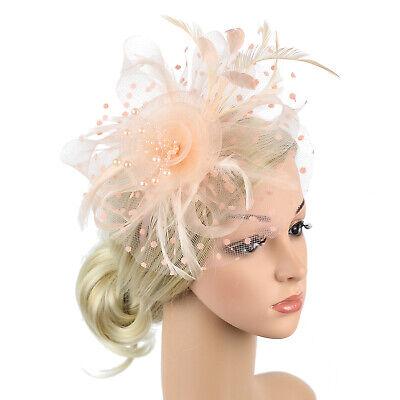 Ladies' Day Fascinator Hat Cocktail Tea Party Headband Women Wedding Hair Clip 5