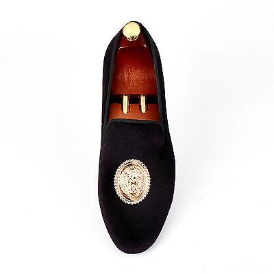 3fcb041c742 ... Harpelunde Lion Metal Buckle Dress Shoes Men Black Velvet Loafers Size  7-14 3