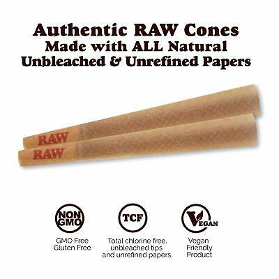 RAW 20 Classic King Size Cones, 109mm Pre Rolled Hemp Cones, W Gallery Box 4