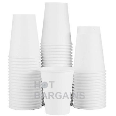12oz Disposable Single Wall White Paper Cups for Hot Drinks Tea , ECO - FRIENDLY 8